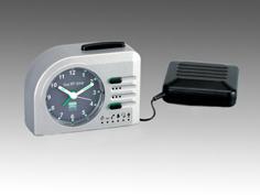 Lisa RF Time silver wekkers voor slechthorenden