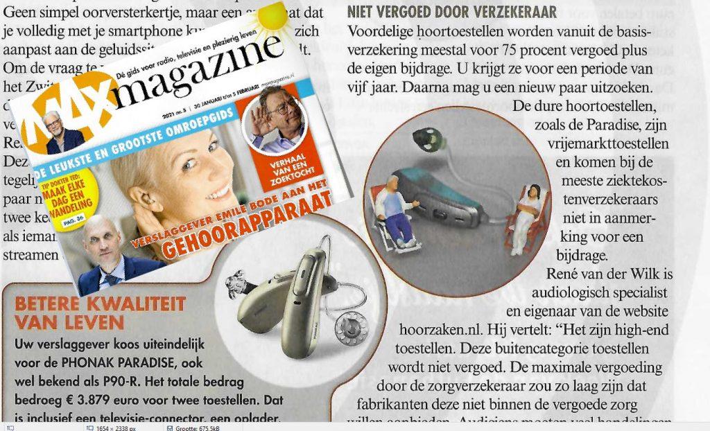 Max Magazine gehoorapparaat