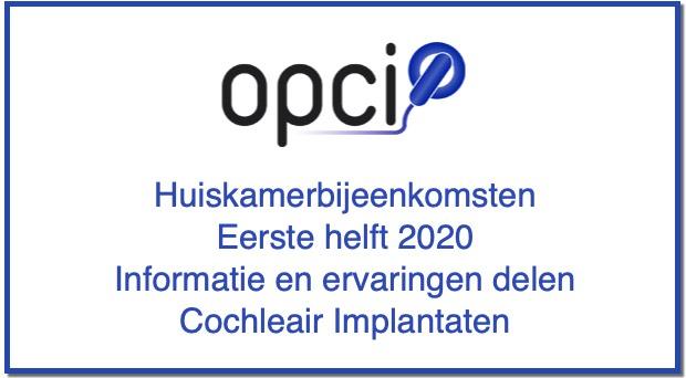 OPCI huiskamerbijeenkomsten eerste helft 2020
