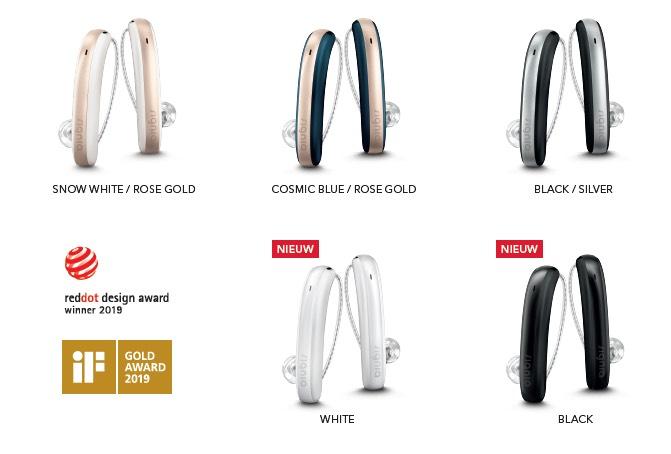 Signia Styletto X: verschillende kleuren gehoorapparaat