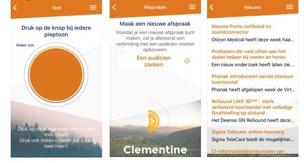 Clementine Hearing App