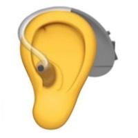 emoji hoortoestel