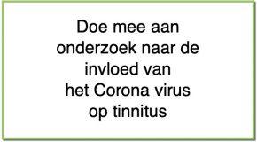 Doe mee aan onderzoek naar de impact van het Coronavirus op Tinnitus