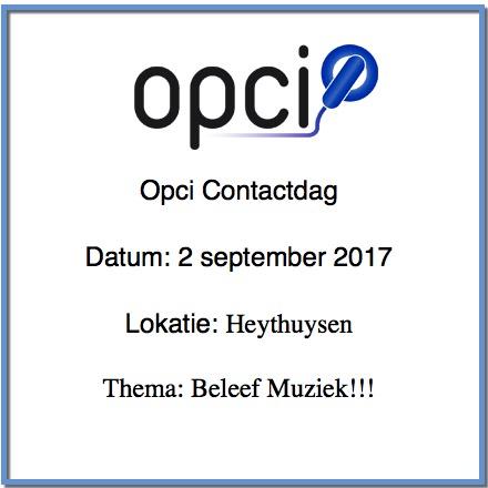 OPCI contactdag 2017