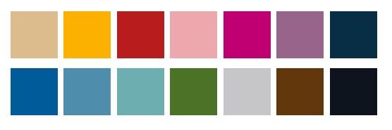 softband kleuren