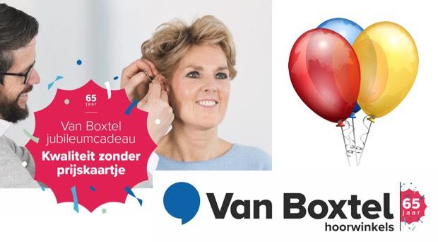 Hoorzaken - Van Boxtel hoorwinkels viert 65e verjaardag en trakteert