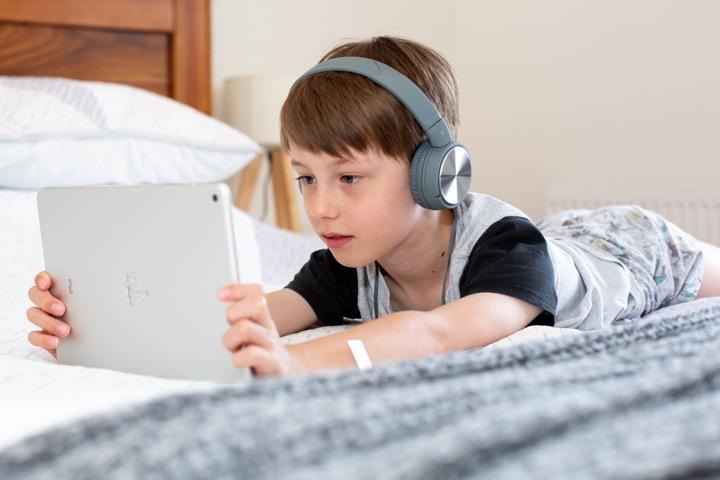 volumebegrenzer op telefoon of tablet
